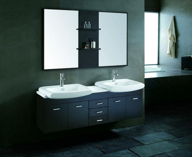 Unique Double Bathroom Vanities New Decorating Design