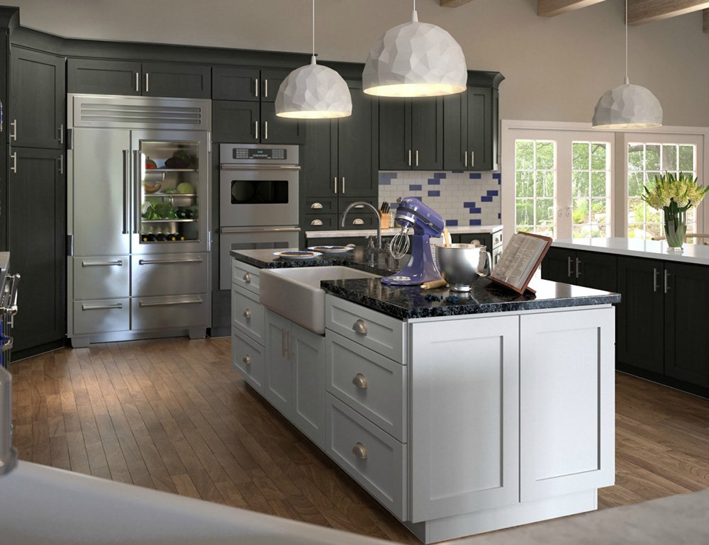 Buy graystone shaker rta ready to assemble kitchen for I kitchen cabinet